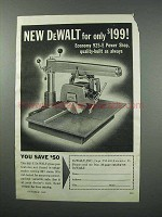 1960 DeWalt Economy 925-E Power Shop Tool Ad