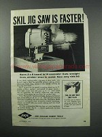 1960 Skil Jig Saw Ad - Is Faster!