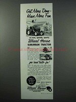 1960 Wheel Horse Suburban Tractor Ad - Get More Done