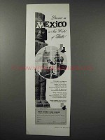 1960 Mexico Tourism Ad - Discover New World of Thrills