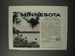 1960 Minnesota Tourism Ad - Family Vacation State