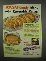 1960 Hormel SPAM Meat and Reynolds Wrap Ad - Tricks
