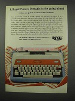 1960 Royal Futura Portable Typewriter Ad - Going Ahead