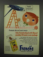 1960 French's Parakeet Seed Ad - 14 Foods in One