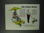 1960 Eclipse Riding, Reel-Type Lawn Mowers Ad