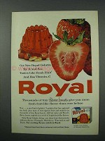 1960 Royal Strawberry Gelatin Ad - Like Fresh Fruit