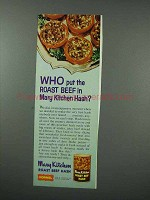 1960 Hormel Mary Kitchen Roast Beef Hash Ad