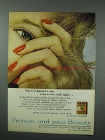 1960 Knox Gelatine Ad - Way To Have Nice Nails Again