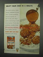 1960 Chef Boy-ar-dee Meat Balls With Gravy Ad