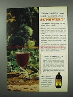 1960 Sunsweet Prune Juice Ad - Happy, Healthy Days