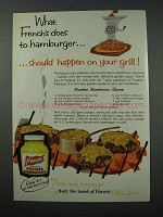 1960 French's Mustard Ad - Golden Barbecue Sauce