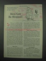 1960 Rust-Oleum Paint Ad - Rust Can Be Stopped
