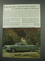 1960 Chevrolet Bel Air Sport Coupe Car Ad - Travel!