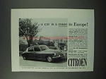 1960 Citroen Car Ad - A Must in Europe