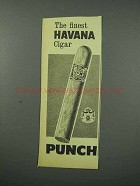 1960 Punch Cigar Ad - The Finest Havana Cigar