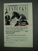 1960 Kentucky Tourism Ad - Hospitable