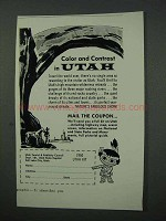 1960 Utah Tourism Ad - Color and Contrast