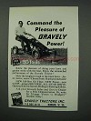 1960 Gravely Tractor Ad - Command the Pleasure
