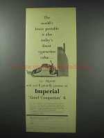1959 Imperial Good Companion 4 Typewriter Ad