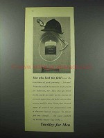 1959 Yardley for Men Shower Talc Ad - Lead the Field