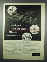 1959 Bausch & Lomb BALvar 8 Scope Ad - Hunt Game