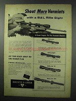 1959 Bausch & Lomb BALsix, BALeight, BALvar 24 Scope Ad