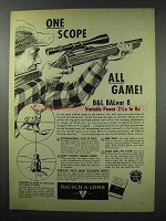 1959 Bausch & Lomb Balvar 8 Ad - One Scope All Game