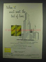 1959 Hager Hinges Ad - Meet the Test of Time