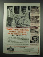 1959 DeWalt Power Tools Ad - Custom-Build Any House