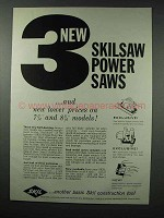 1959 Skil Skilsaw Ad - 3 New Power Saws