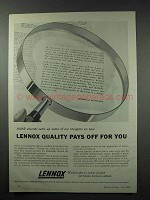 1959 Lennox Heating and Air Ad - Quality Pays Off