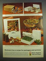 1963 West Virginia Pulp and Paper Ad - Westvaco Recipe