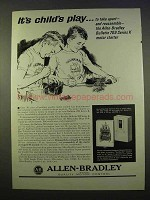 1963 Allen-Bradley Ad - Bulletin 709 Series K Starters - Child's Play