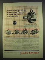 1963 Allen-Bradley Ad - Type J Hot Molded Potentiometer