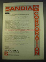 1963 Sandia Corporation Advertisement - PhD's