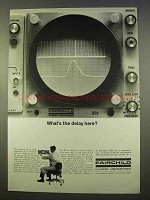 1963 Fairchild Type 767H Oscilloscope Ad - What's Delay