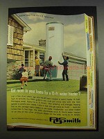 1963 A.O. Smith Water Heater Ad - Got Room For?