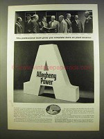 1963 Allegheny Power Ad - Facts on Plant Location