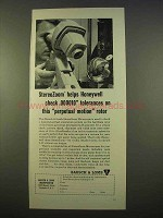 1963 Bausch & Lomb StereoZoom Microscope Ad - Honeywell