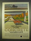 1963 Portland Cement Association Ad - Concrete