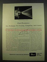 1963 Bendix Research Laboratories Ad - Fluid Phenomena