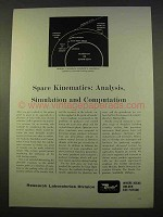 1963 Bendix Research Laboratories Ad - Space Kinematics