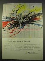 1963 Celanese Chemicals Ad - Ideas Fissionable Material
