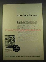 1963 Warner & Swasey Automatic Ad - Know Enemies