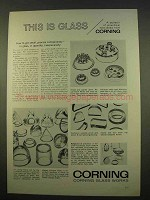 1963 Corning Glass Ad - Get Small, Precise Components