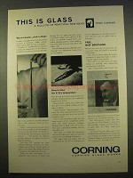 1963 Corning Glass Ad - Want-a-Heater