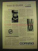 1963 Corning Glass Ad - Look Homeward, Laser