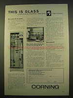 1963 Corning Glass Ad - New Water Still for Purists