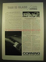 1963 Corning Glass Ad - Make A Switch Hitter See Red