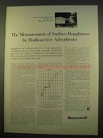 1963 Honeywell Research Ad - Radioactive Absorbents
